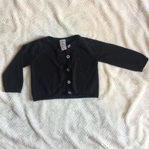 Black infant button up cardigan
